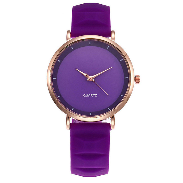NEW Purple Beautiful pu leather band quartz Watches Best Sale dress buckle Watch