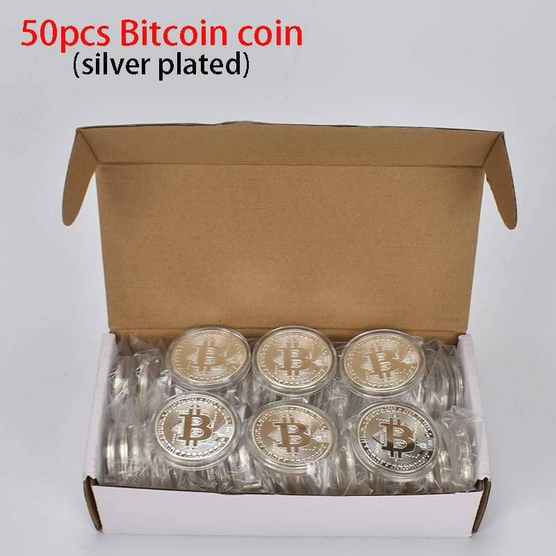 Hot 50pcs/Lot Bitcoin coin BTC Bit Metal Coin For Souvenir-1