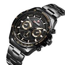 Luxo Completa Aço Resistente À Água Clássico Fácil Ler Sports Men Relógio De Pulso, Frete Grátis Top Quality Masculino Relógios Do Exército 80298
