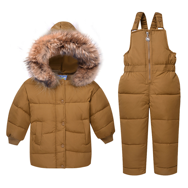 2018 fashion winter Down Jacket Children clothing Thickening kids clothes 3 colours coats + overalls baby snowsuit outerwear boy winter coats hot sales children clothing thickening hooded cotton jackets fashion warm baby boy coats clothes outerwear kids