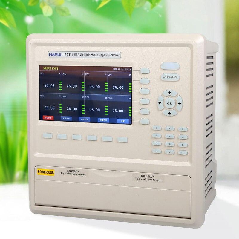 Fast arrival 130T-16 multi-channel temperature recorder  Channel 16 touch-screen temperature recorder