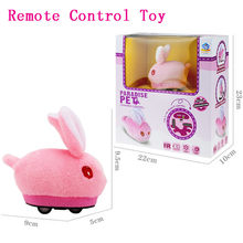 New Cute Remote Control Rabbit Plush Toy Robot Cartoon Novelty Prank Electric Toys for Kids 45# dropship(China)