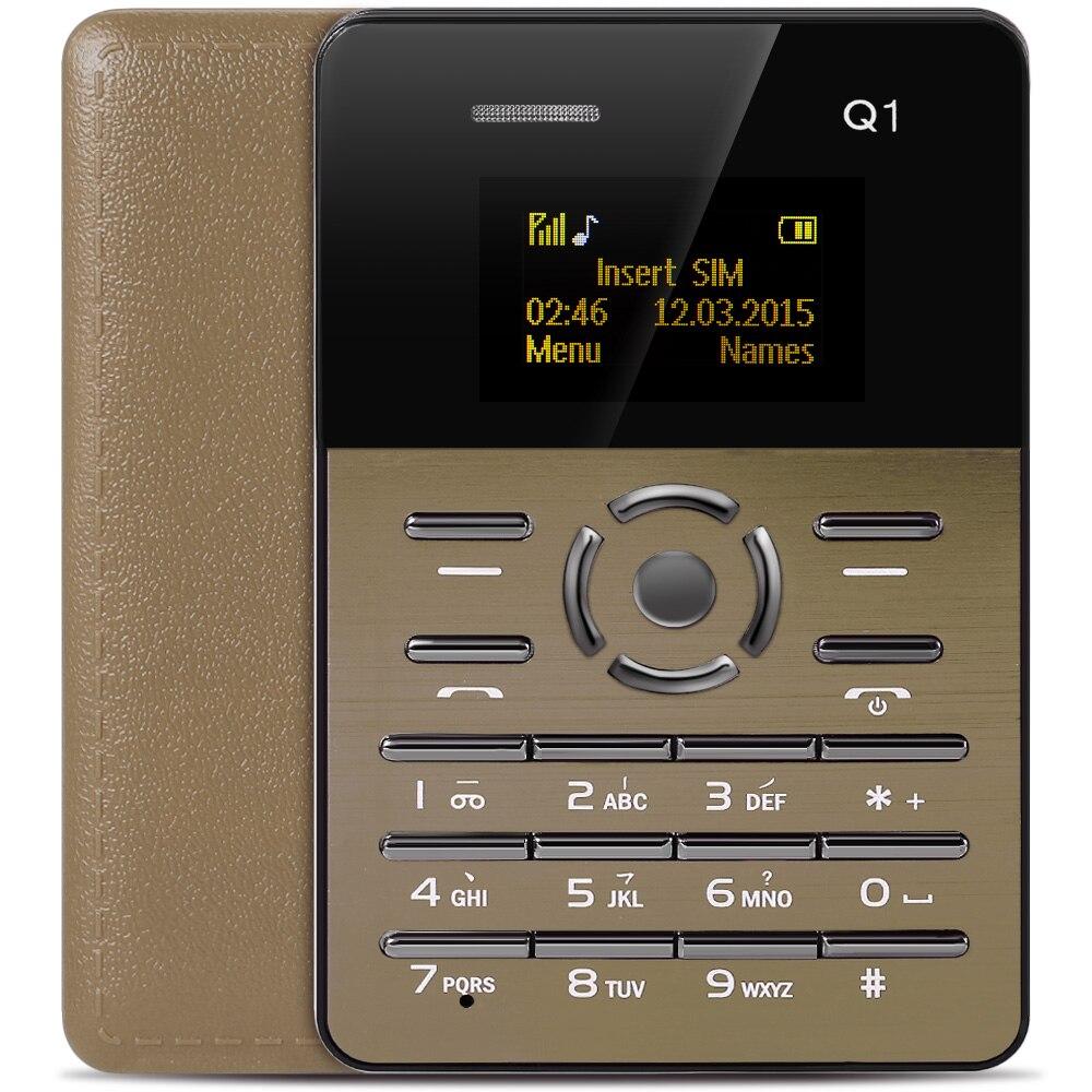 AIEK\AEKU Q1 1.0 Inch Ultra-thin Card Phone FM Audio Player Sound Recorder Calendar Calculator AEKU Q1