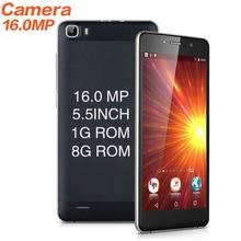 Y2017 MTK6580 16MP cámara Teléfono 5.5 pulgadas de pantalla Del Teléfono Móvil Quad Core Android 5.1 Teléfono Celular Dual Sim WCDMA 3G Smartphone