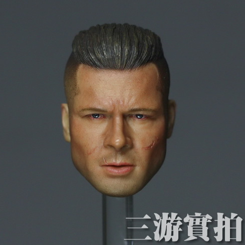 Brand New 1/6 Scale Movie Fury Don 'Wardaddy' Collier (Brad Pitt) Head Sculpt Accessories For 12'' Action Figure Model Toy