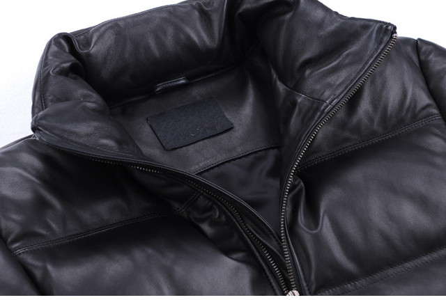 YOLANFAIRY Geniune Leather Jacket Men Sheepskin Leather Goose Down Coat Quality Winter Warm Thick Plus Size 5XL Outwear MF381 2