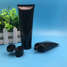 شحن مجاني 60 مللي 100 مللي فارغة الأسود البلاستيك أنبوب غطاء قلّاب زجاجات الذكور رجل مستحضرات التجميل الحاويات التعبئة والتغليف 50 قطعة