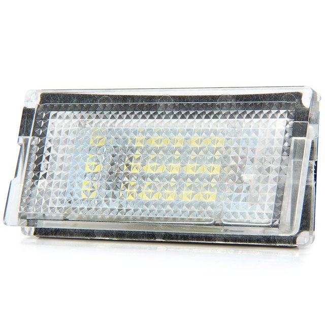 New Auto License Plate Lamp Car SMD 3528 LED Light Pure White Light 1.44W 18 LEDs Number Suitable for BMW E46 4D 98 – 03  – 2pcs