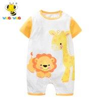 Baby Romper Short Sleeve Summer Baby Rompers Cotton Sleeveless Newborn Baby Girl Clothes Cartoon 100 Cotton