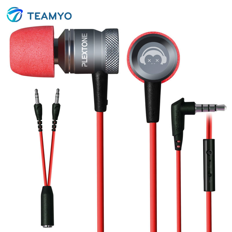 Teamyo Professional Gaming In-Ear Earphone G10 Super Noise Cancelling With Microphone For Phones Compute