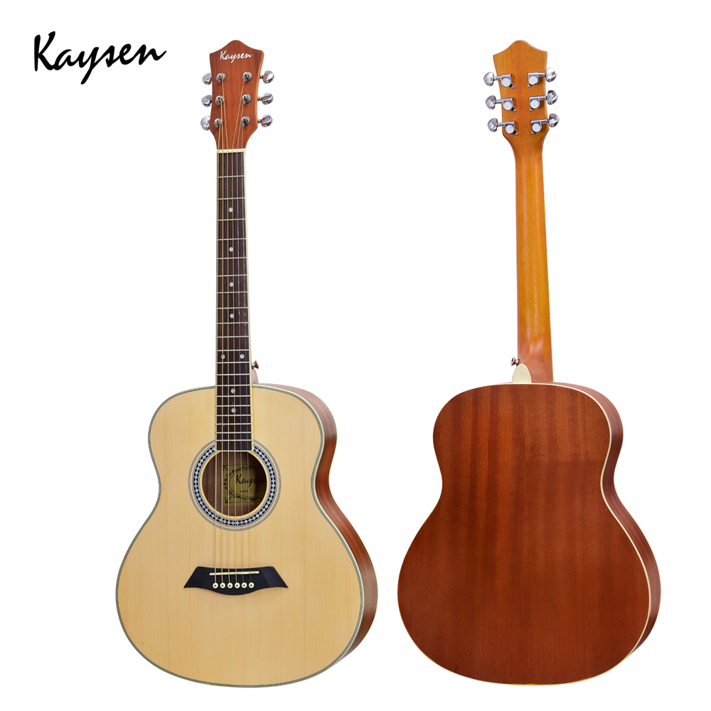 Kaysen 36 Rosewood Acoustic Guitar Travel Guitar Wooden High quality 6 Strings Musical Instrument Guitarra Professional AGT105 image