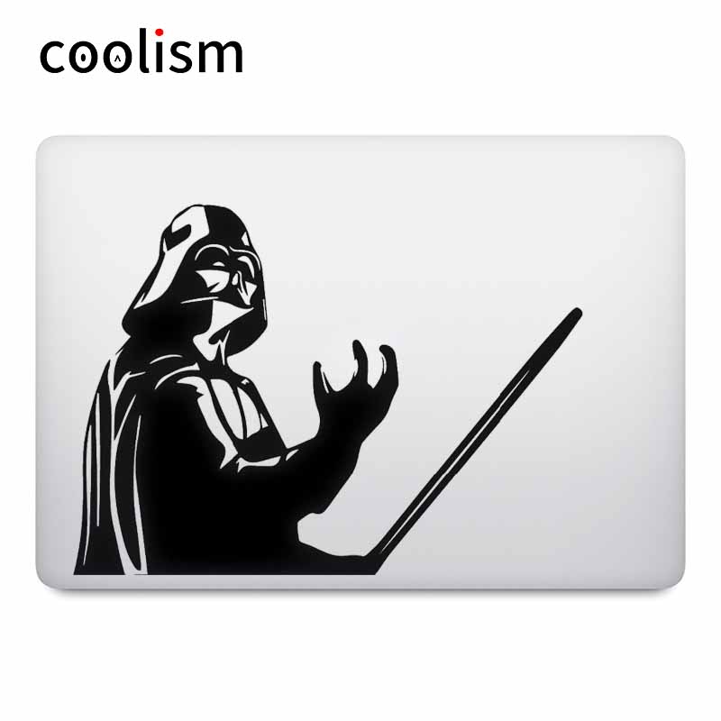 MacBook Decal Air Pro Retina üçün Star Wars Darth Vader Noutbuk Etiketi 11 12 13 15 düym İncəsənət Kompüter Mac Kitab dəri Notebook Decal