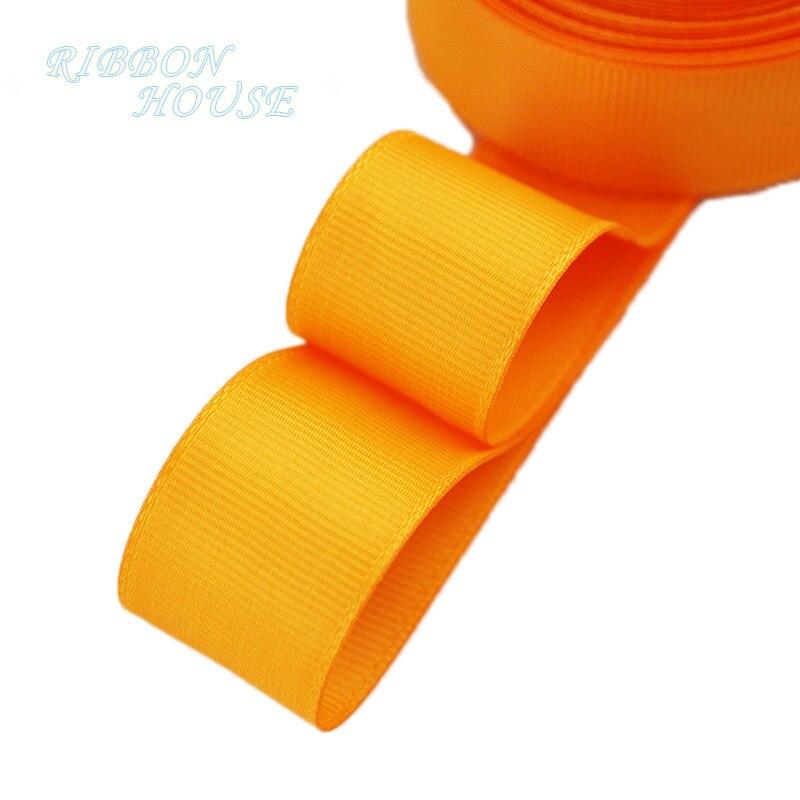 (5 м/лот) 1 «(25 мм) Оранжевый корсажная лента подарочная упаковка оптом Рождество украшение ленты