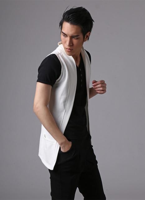 Mens vest brand fashion casual men workout vest coat men sleeveless cardigan waistcoat Q662