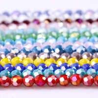 8mm Österreich Opal Runde Ball Kristall Perlen für Armband, Die Diy Material Perles Lose Facettierten Spacer Glas Perlen Z172