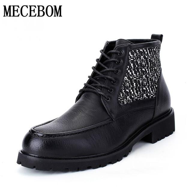 Venta caliente del mens del estilo británico botines negro zapatos casuales para hombre otoño al aire libre de alta superior transpirable sapatos tamaño 39-44 LJ8011M