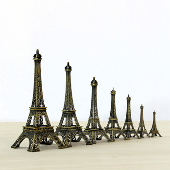 10cm-70cm Metal Eiffel Tower Craft Model Home Decoration Accessories Vintage Decor Retro Antique Bronze Tower Model Room Decor 1