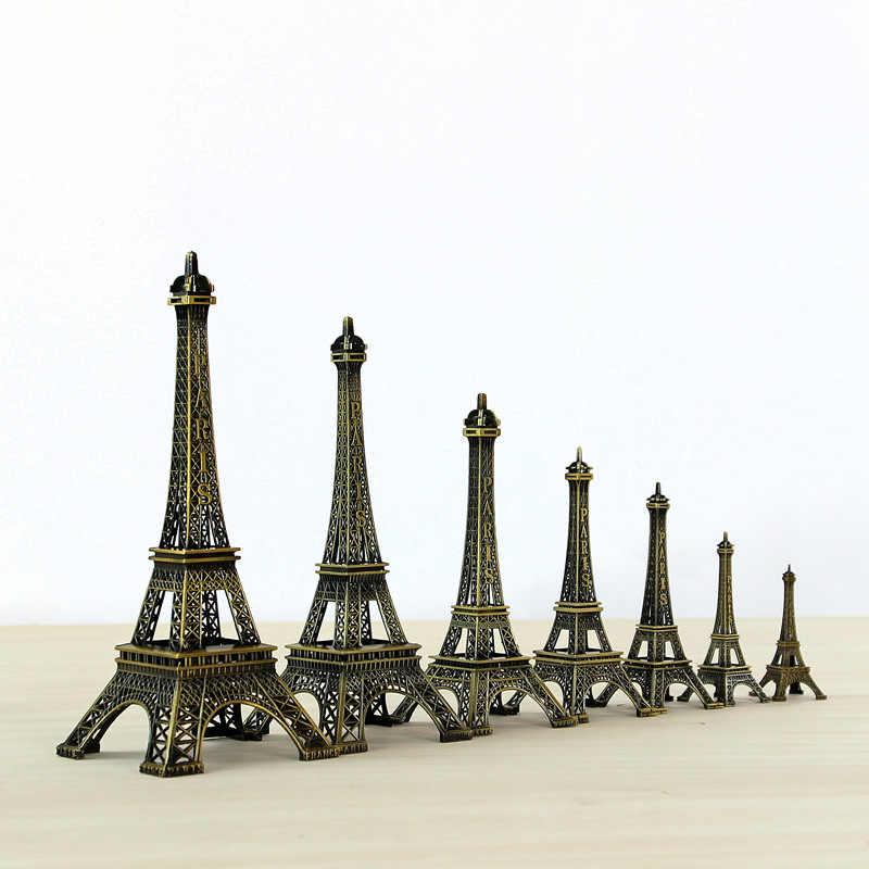 10 см-60 см Металл Эйфелева башня ремесло Модель украшения дома аксессуары винтажный Декор Ретро, антикварная бронза модель башни