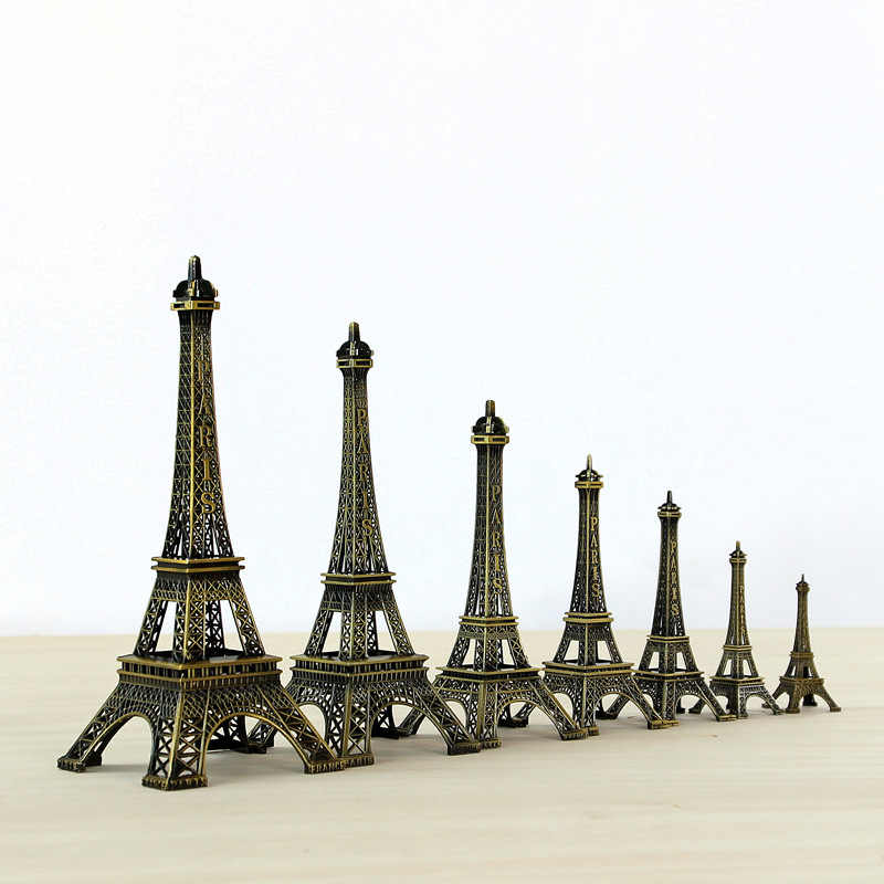 10cm-60cm Vintage Decor Metal Craft Retro Antique Bronze Eiffel Tower Model Home Decoration Eiffel Tower