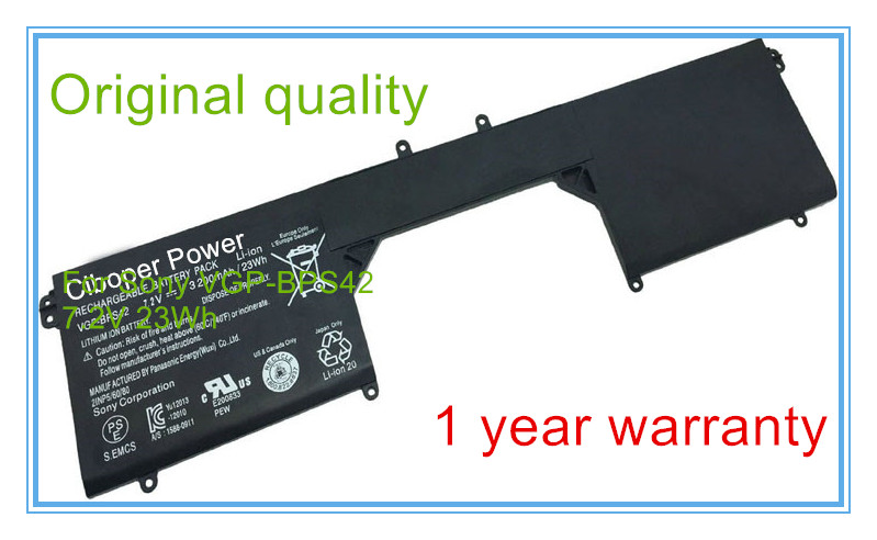 Free shipping VGP-BPS42 bps42 Original laptop Battery For 11A SVF11N14SCP SVF11N15SCP SVF11N18CW 7.2V 23WH настенный светильник crystal lux romeo ap2 gold