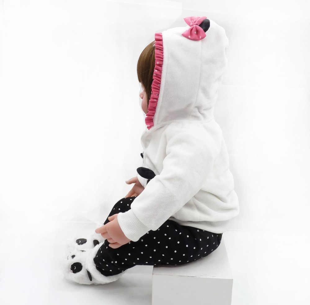 48cm sơ sinh bé gái búp bê núm Silicone mềm tái sinh búp bê Sỉ Đồ chơi trẻ em kỳ nghỉ lễ Giáng Sinh Tặng LOL đồ chơi