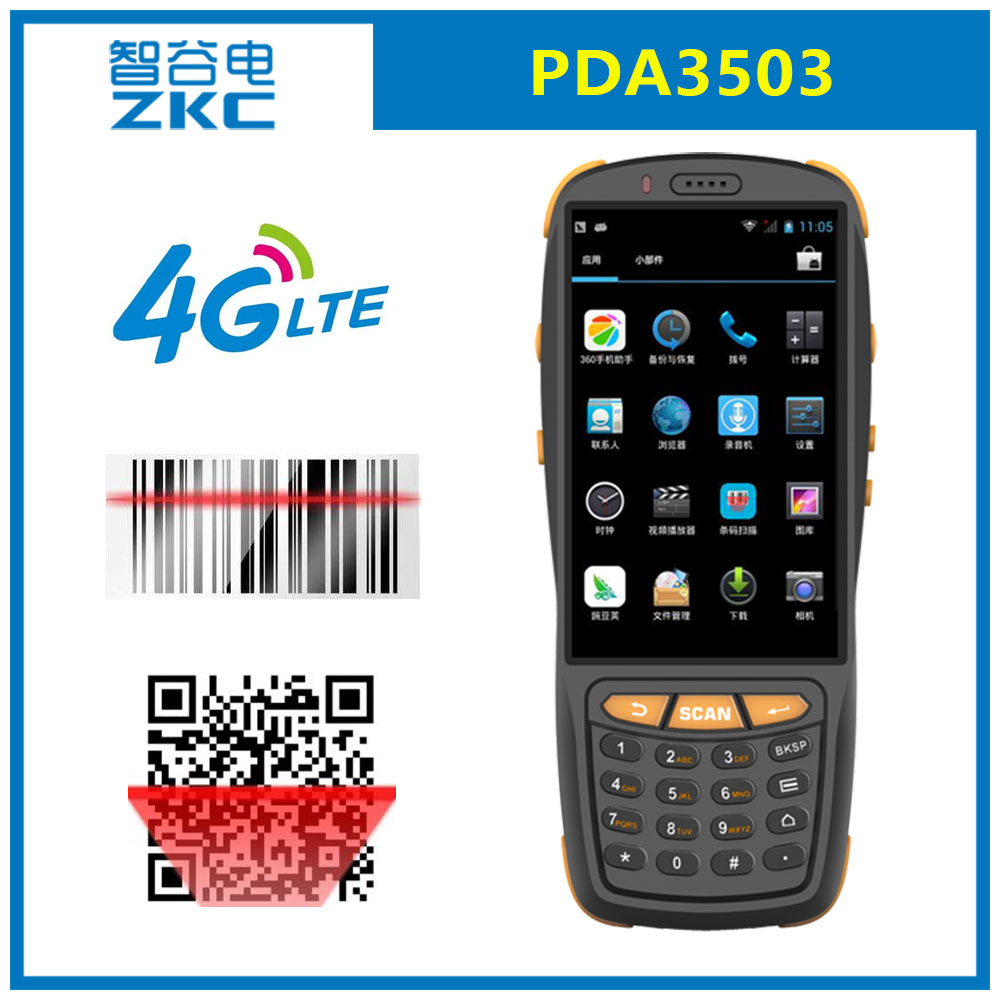 US $189 0 |ZKC PDA3503 GSM 3G 4G WiFi RFID/NFC Android Handheld PDA 2D CMOS  Bar code Reader-in Scanners from Computer & Office on Aliexpress com |