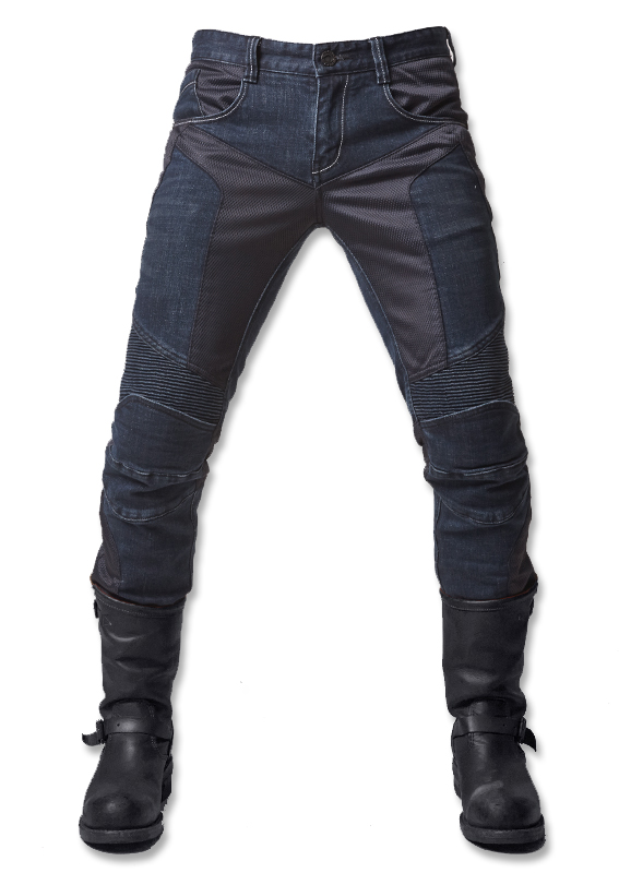 Straight Slim uglyBROS JUKE UBP-01 Jeans Men's Summer Mesh Motorcycle Jeans Motorcycle Protective Pants Racing blue Pants men s cowboy jeans fashion blue jeans pant men plus sizes regular slim fit denim jean pants male high quality brand jeans