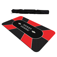 Texas Hold'em Poker Thickening Mat Various Pattern 1.8 x 0.9m Rubber Gaming Pad Casino Card Game
