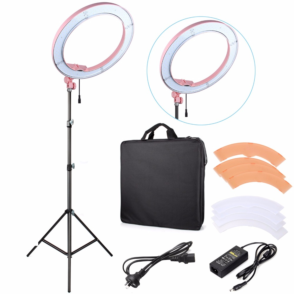 ES240 LED Ring Light 18 Stepless Adjustable Ring Light Camera Photo/Video Portrait photography 240pcs LED 5500K Dimmable