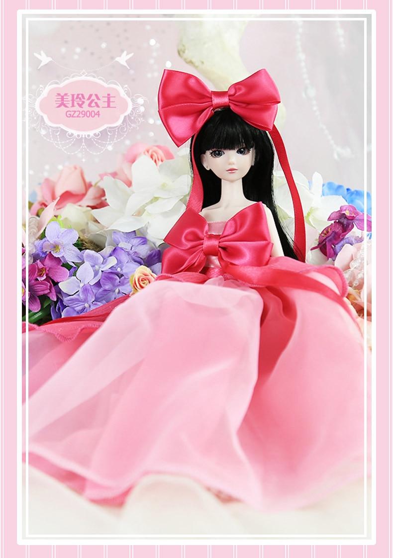 14 jointed 29 cm 11 ''BJD poupée cadeau pour fille poupées princesse cheveux + maquillage + tissu + chaussures