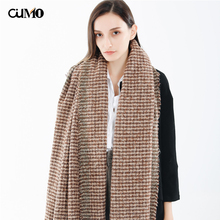 [OuMo] Brand bandana tassel Houndstooth scarf women kerchief hair scarf women Soft Warm shawls snood scarf Thicken Long 190*70cm недорого