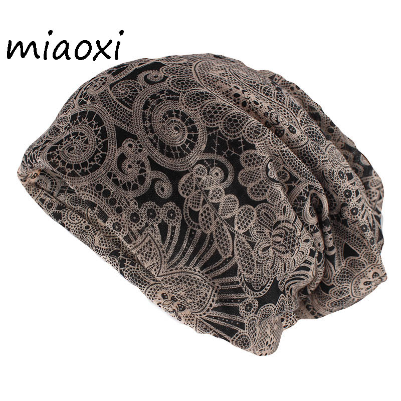 miaoxi Hip Hop Fashion Women Hat Caps Lady Summer Rayon   Beanies   Scarf Double Use Adult Girl's Gorros Casual Brand Hats