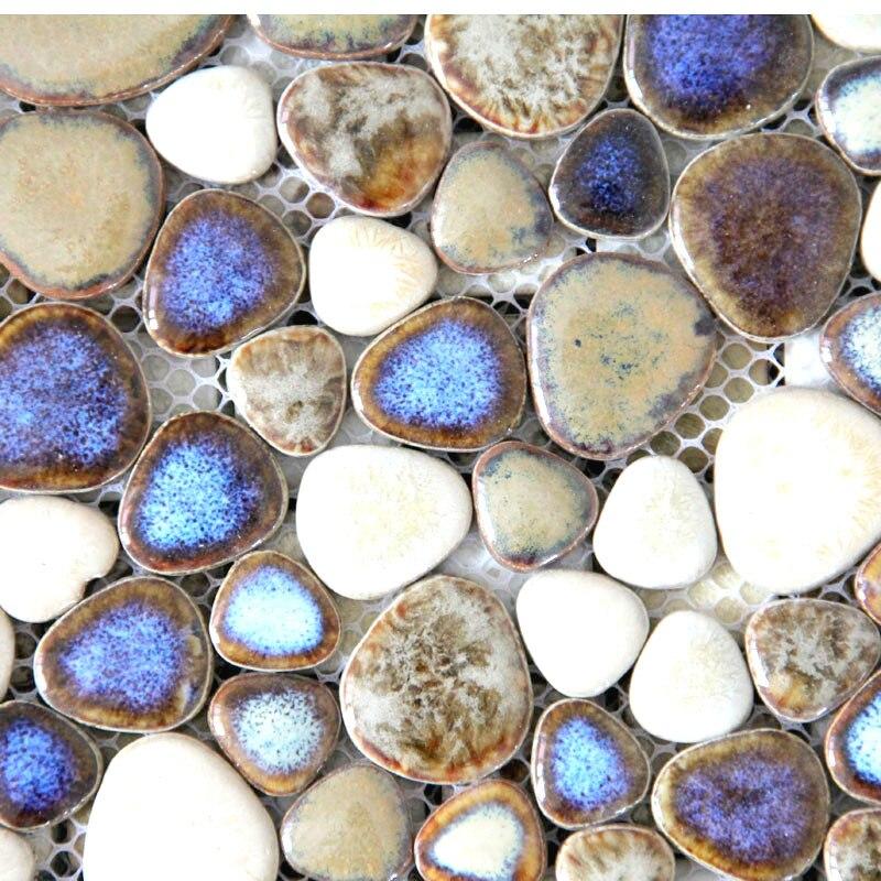 Cobble Stone Mosaics : Cobble stone ceramic mosaic tiles for kitchen backsplash