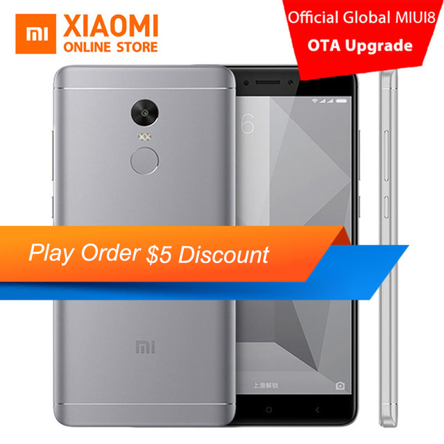 "Xiaomi Redmi Note 4X 3GB RAM Mobile Phone 32GB ROM Snapdragon 625 Octa Core CPU 5.5"" 1080p display 13MP Camera 4100mah MIUI8.1"