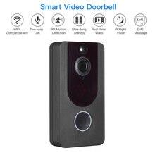 WiFi Smart Video Doorbell Wireless Door Bell,1080P HD Home Security Camera with Two-Way Talk & Video, IR Motio