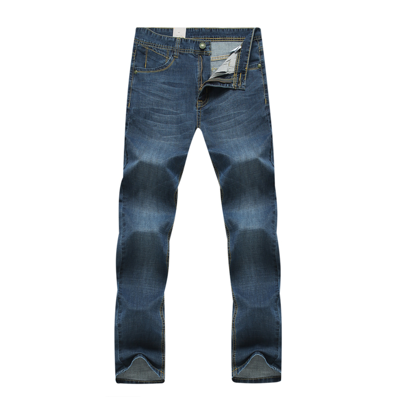 New Famous Brand Mens Jeans Long Straight Jeans 2017 new light blue jeans male Slim casual fashion denim big yards Men 6XL 7XL 2017 fashion patch jeans men slim straight denim jeans ripped trousers new famous brand biker jeans logo mens zipper jeans 604