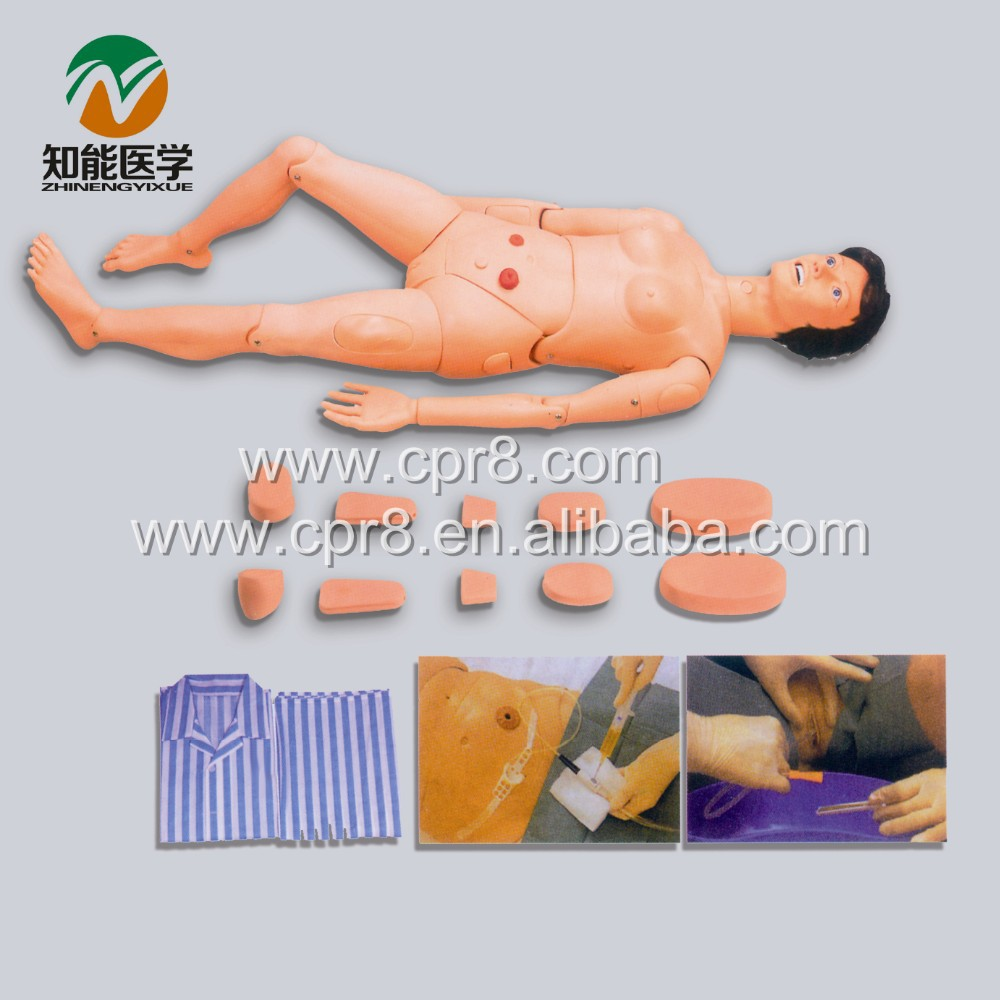 BIX-H130B Medical Education Nursing Care Manikin Full Function Female Nursing Model bix h220b advanced female full function aged nursing training manikin wbw112