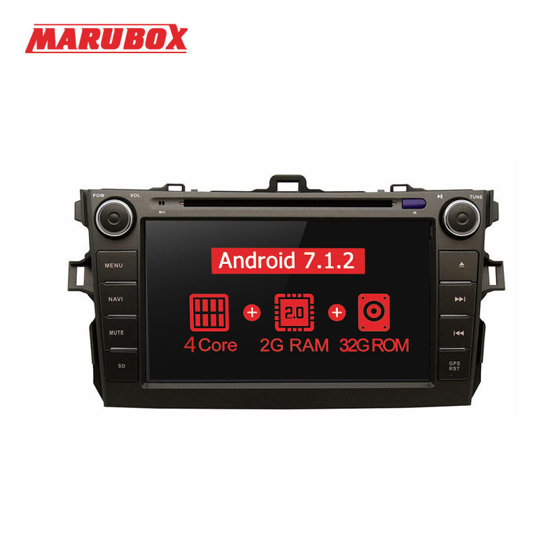 MARUBOX 8A105MT3 Voiture Lecteur Multimédia pour Toyota corolla 2007-2011, Quad Core, Android 7.1, DVD, GPS, Radio, 2 gb RAM, 32 gb ROM