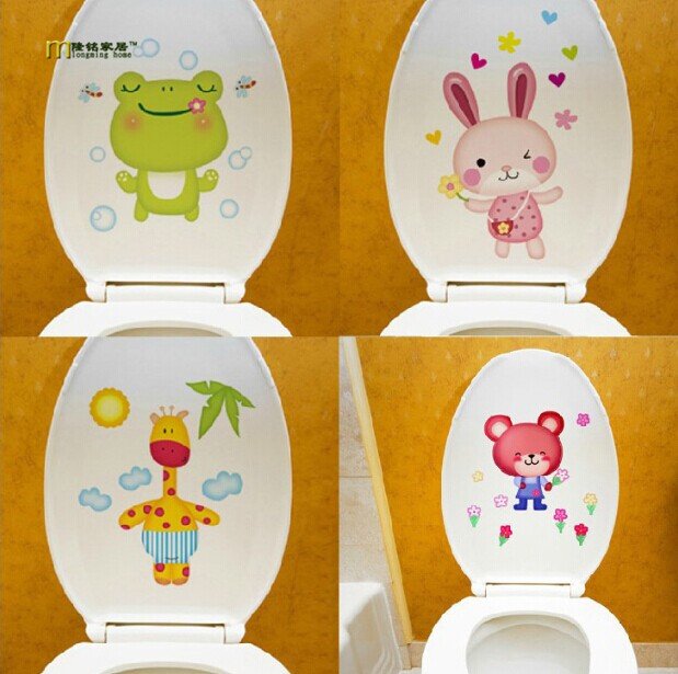 Removable Decoration Wall Stickers Cute Fairy Bathroom Toilet Stickers Home Cabnet Decor Art Decals 3pcs/lot free shipping