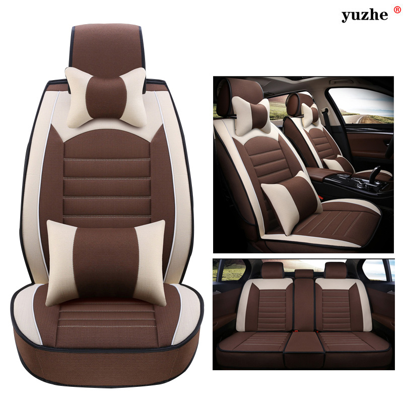 Yuzhe Linen car seat cover For Volkswagen vw passat b5 b6 b7 polo 4 5 6 7 golf tiguan jetta touareg car accessories styling car rear bumper protective decorative strips for vw polo tiguan golf 7 4 6 passat b6 b5 b7 touran t5 accessories car styling