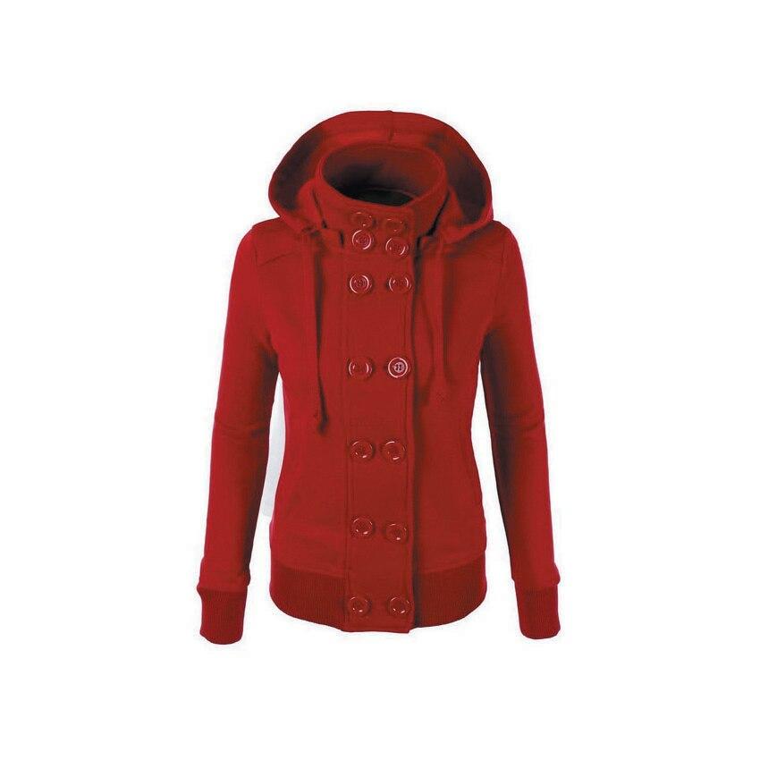 Die neue 2018 qiu dong mit kapuze zweireiher hinzufügen wolle warme Tuch mantel Woolen tuch mantel