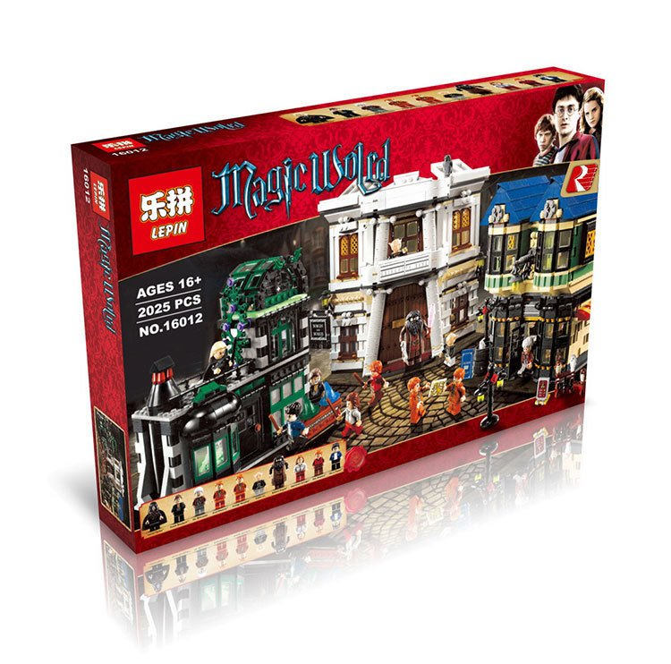 In stock Lepin 16012 DHL Movie Series legoing 10217 Diagon Alley Model Building Bricks Blocks Toys For Kids Christmas Boys Gifts dhl lepin 07060 1969pcs classic movie series building blocks bricks for education toys 7111