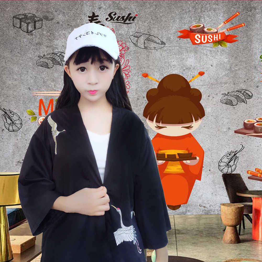 Shushi ショップシェフ制服卸売プロレストラン和風ウェイターウェイトレス夏作業服クール食品サービス