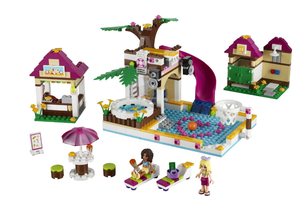 BELA Friends Series Heartlake City Pool Building Blocks Classic For Girl Kids Model Toys Marvel Compatible Legoings