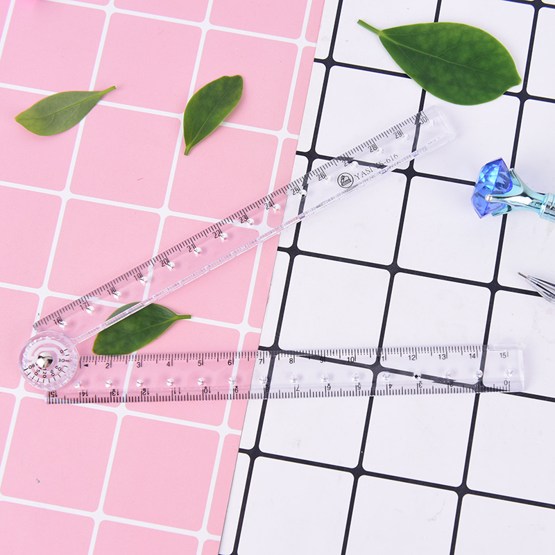 Clear Transparent Plastic Acrylic Folding Straight Rulers 30Cm Drawing Student Children Stationery School Supplies