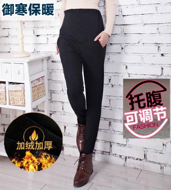 1398281a50480a Winter Warm Maternity Pants for Pregnant Women Plus Velvet Pregnancy  Clothes Pregnant Clothing Cotton Leggings maternity