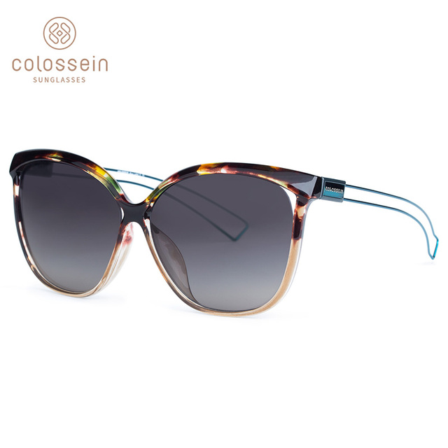 COLOSSEIN Sunglasses Women Cat Eye Brand Designer UV400 Sun Glasses For Men Metal