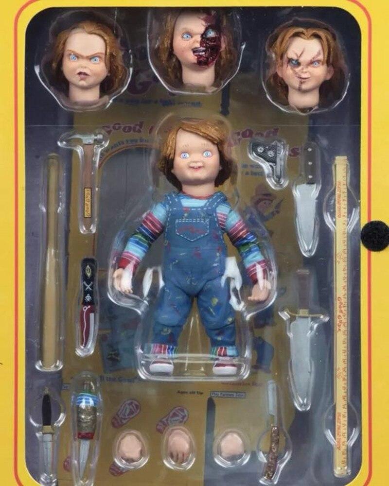 10 см NECA Good Guys Childs PlayUltimate Чаки ПВХ экшн-фигурка Коллекционная модель игрушка подарок
