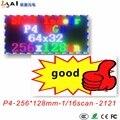 Рекламный Hd P4 Indoor Smd2121 полноцветный светодиодный дисплей модуль 256*128 мм  1/16 сканирование в помещении P4 Rgb светодиодный модуль 64x32 пикселей  2019