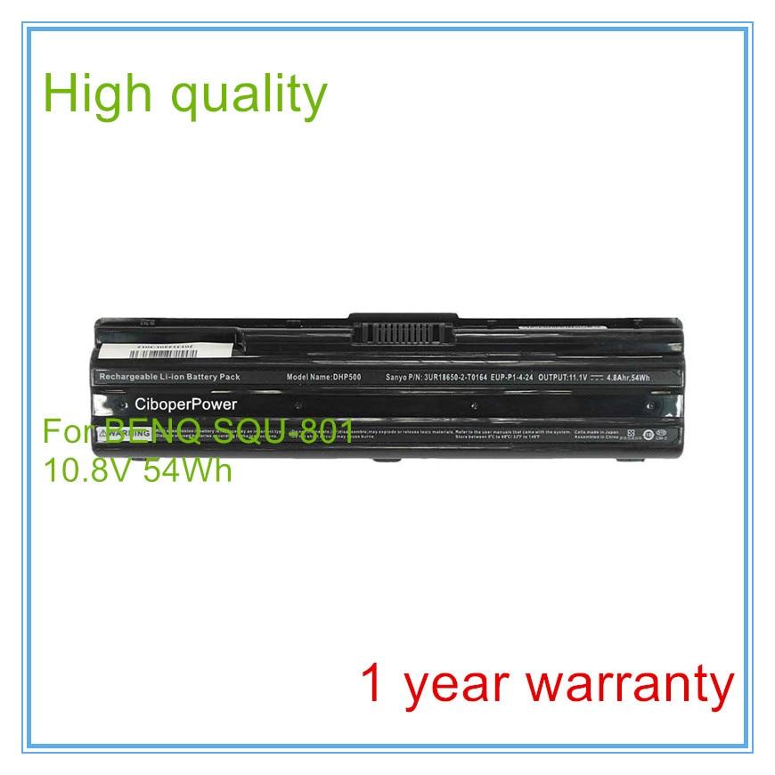 Battery for  SQU-801 DHP500 3UR18650-2-T0123 3UR18650-2-T0164 P53  6cell 5200mAh 14 8v 2600mah original squ 1201 laptop battery for hasee q480s un43 un45 un47 cqb 924 squ 1202 916t2203h 916t2232h 916q2203h